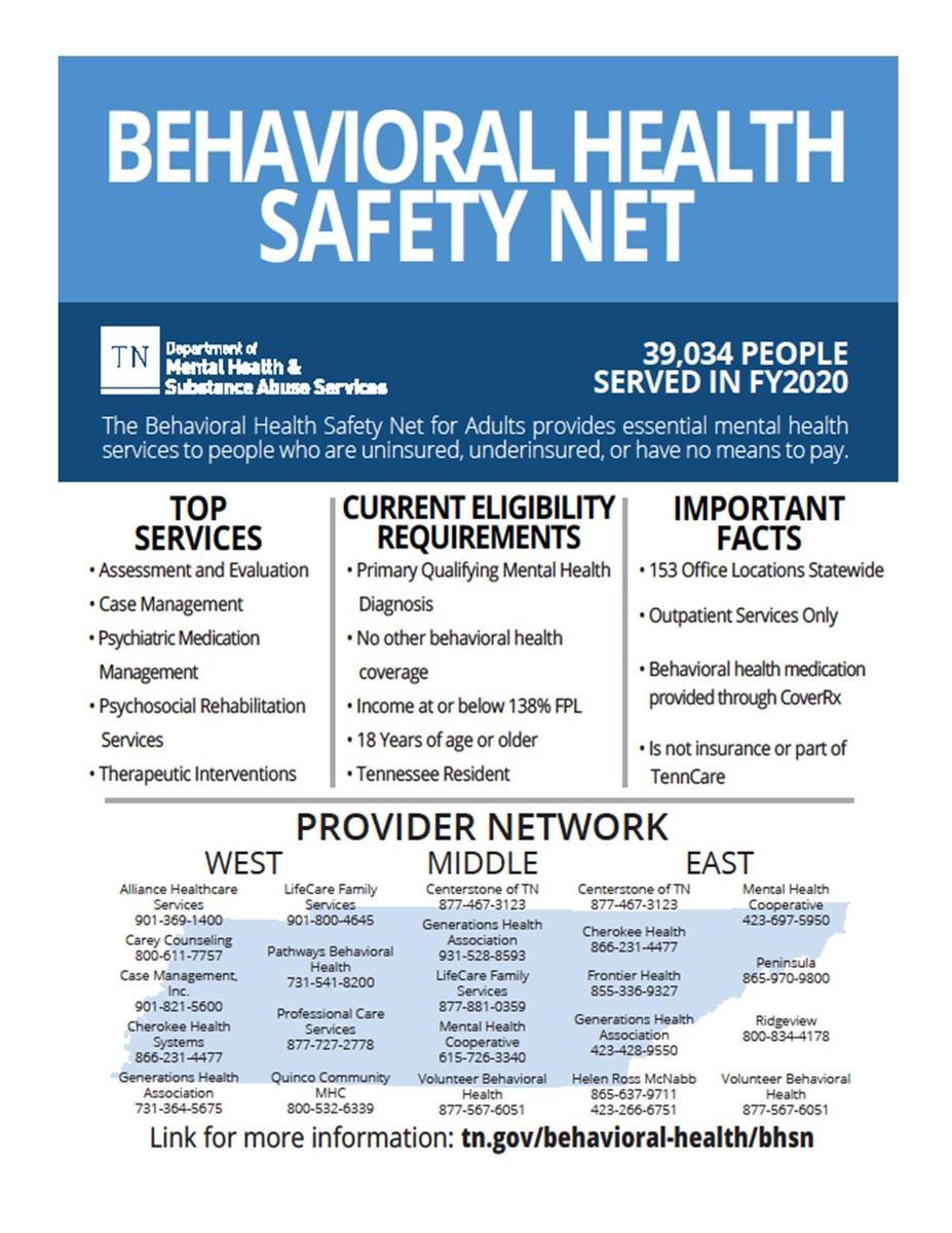 Adult Behavioral Safety Net