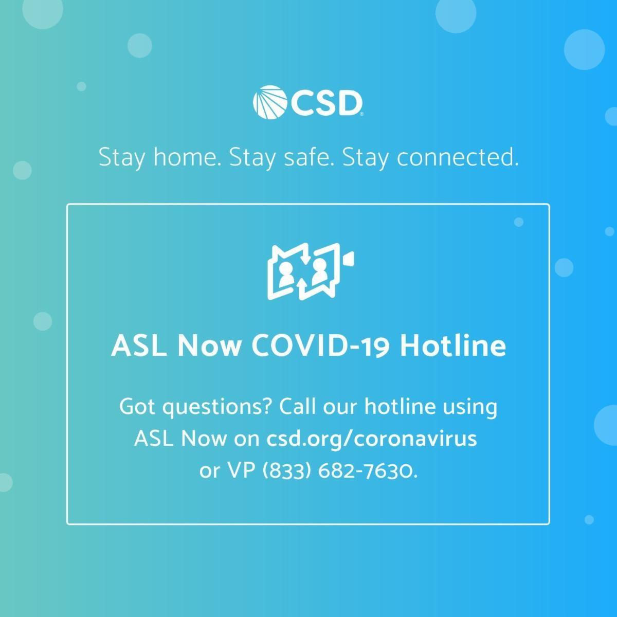 ASL Now COVID-19 Hotline