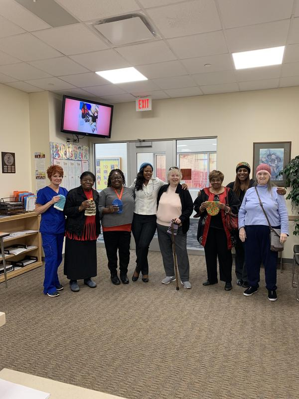 Ridgewood senior citizens with NCH employees