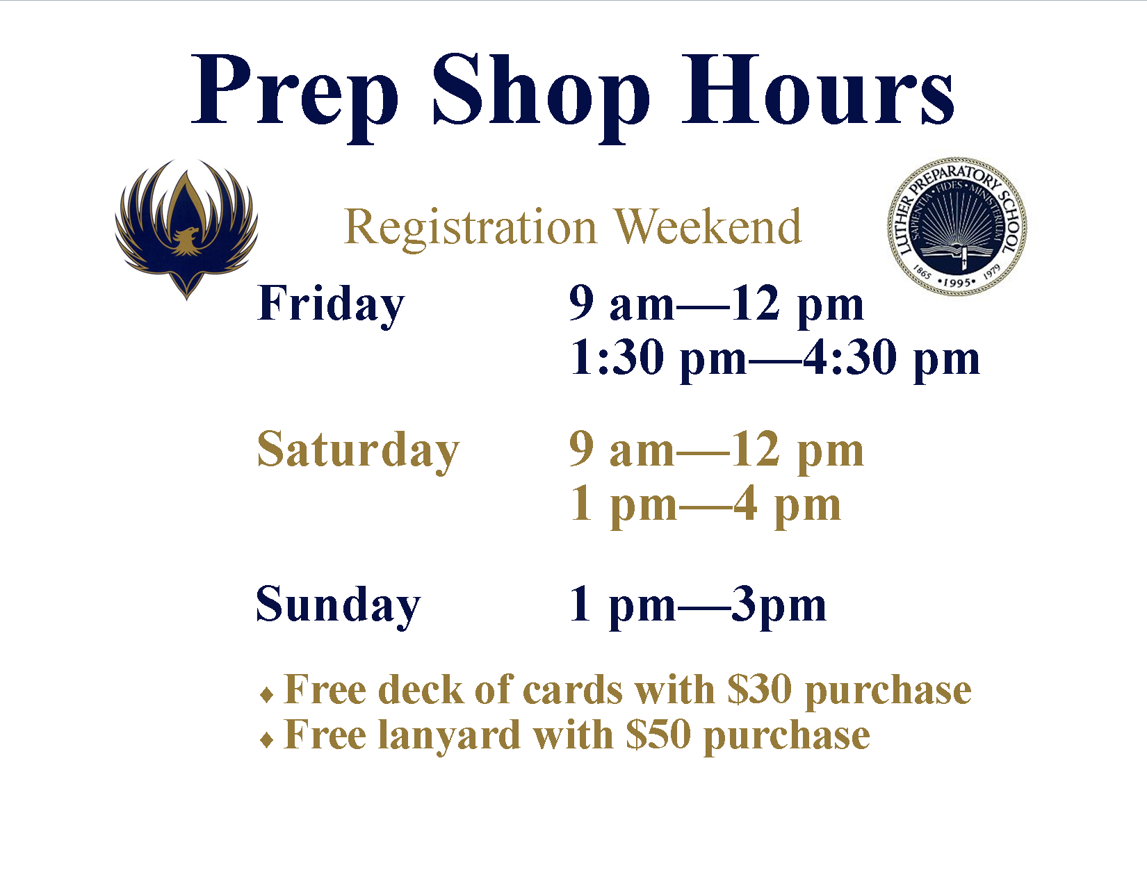 Prep Shop Hours