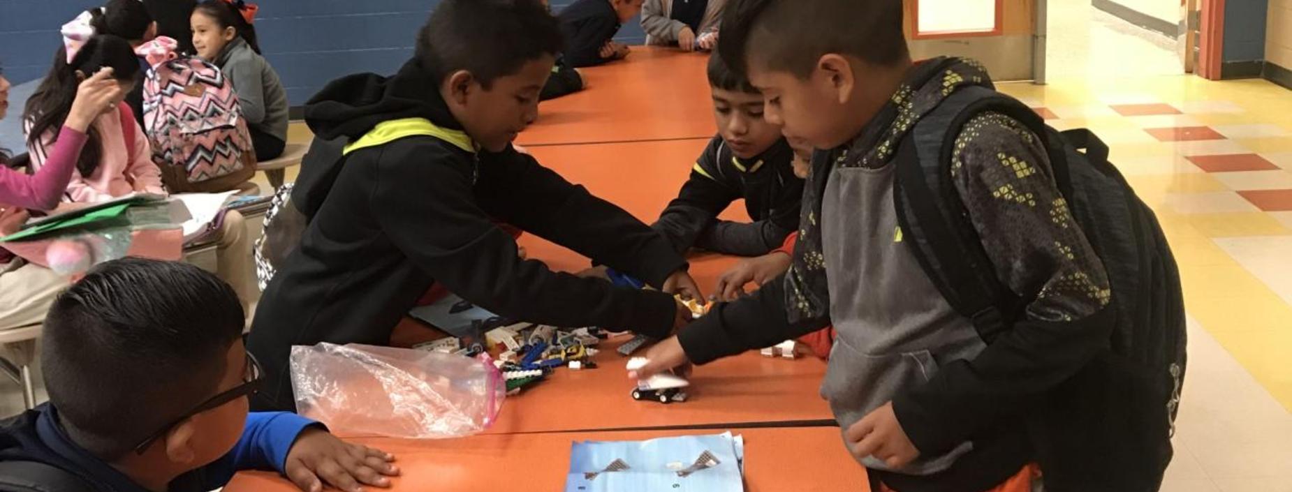 students using legos