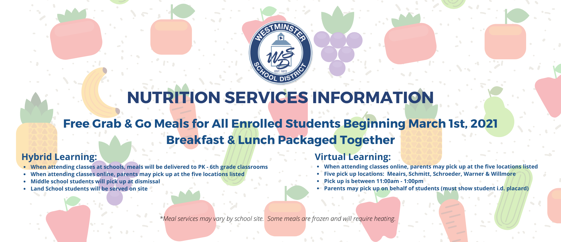 Nutrition Services March 1, 2021