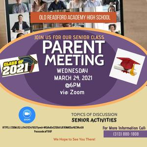 High School Senior Parent Meeting