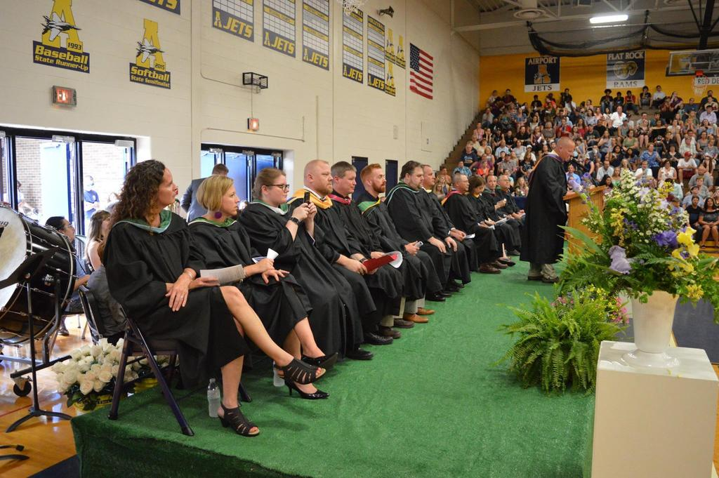 Staff/Board of Education at Graduation