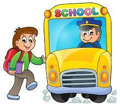 student getting on bus