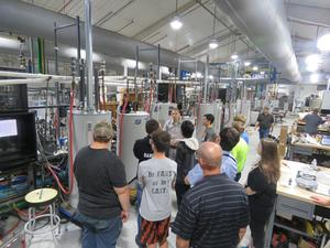 TKHS students tour Bradford White's plant in Middleville.