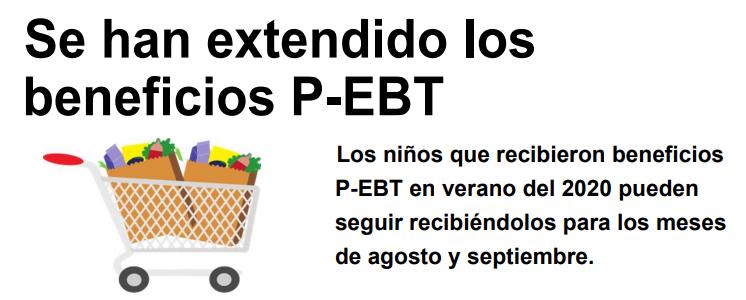 Se han extendido los beneficios P-EBT