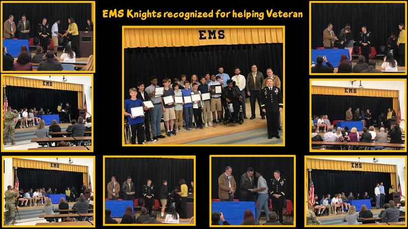 Local middle school track team honored for helping U.S. Army Veteran