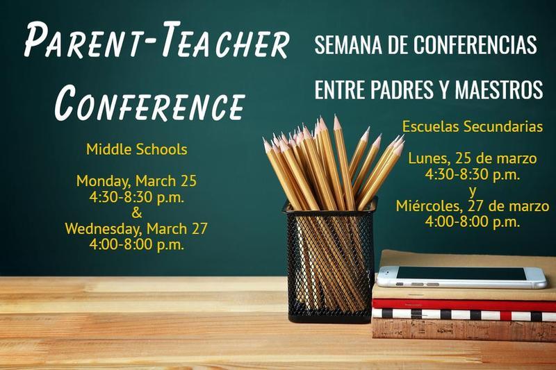 Info on Parent Teacher Conferences at Middle Schools