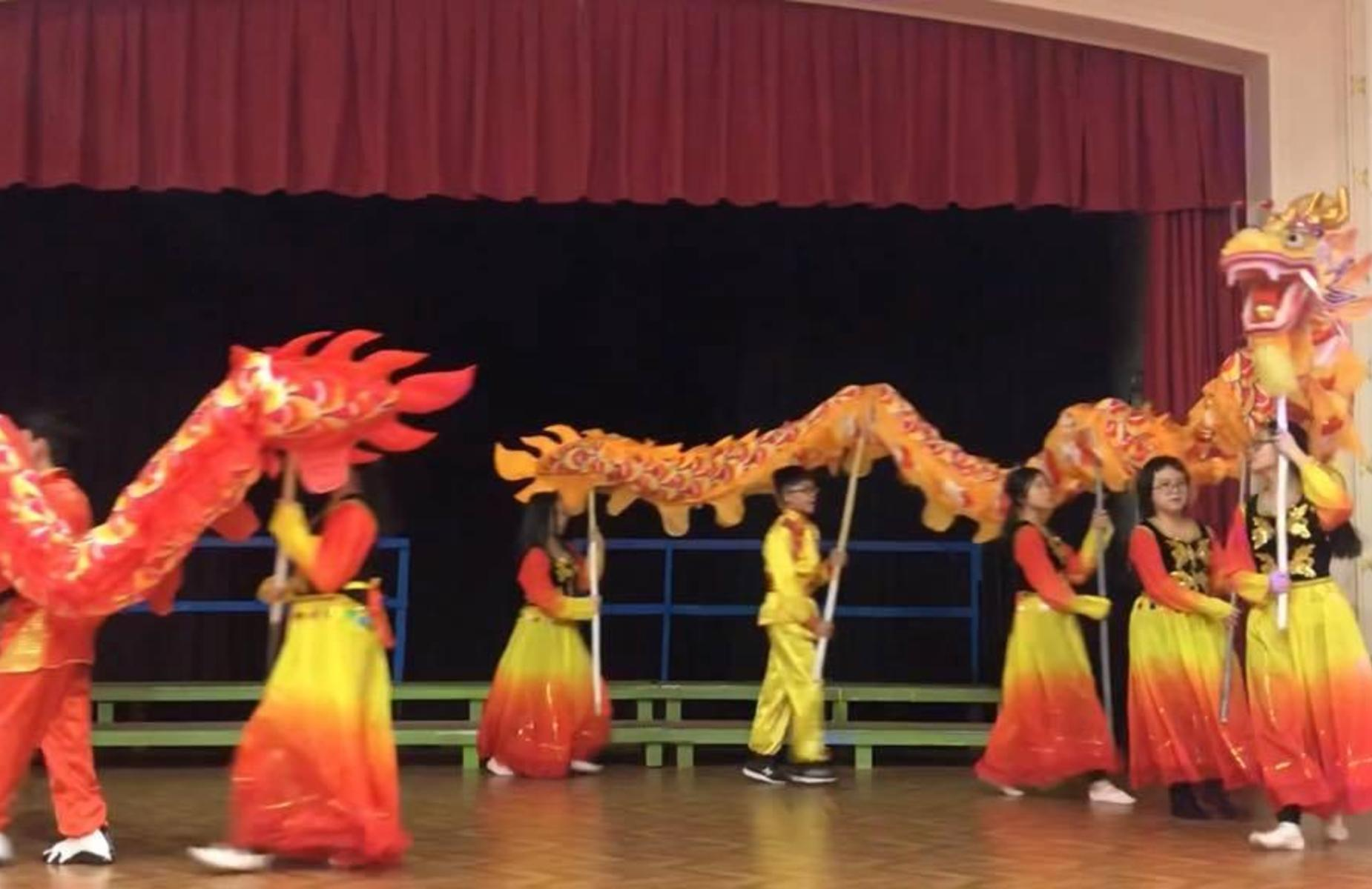 Chinese Dance after school club performing