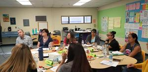 Barfield teachers in a meeting