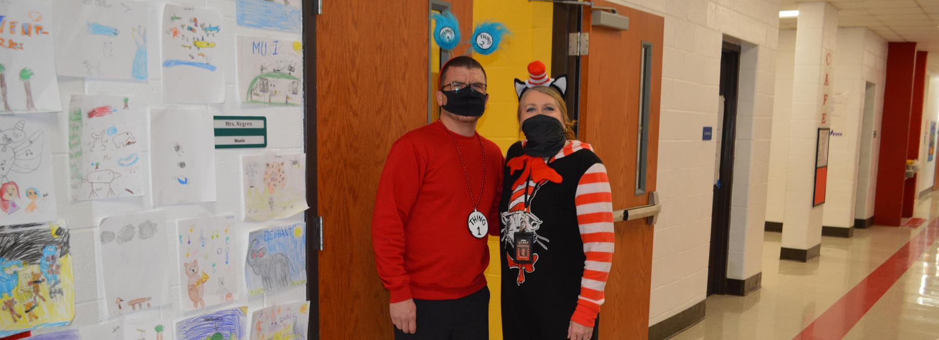 Dr. Seuss' birthday... book character dress - up