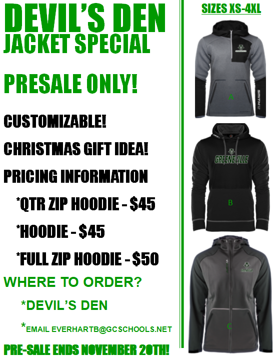 Jacket styles  for Presale