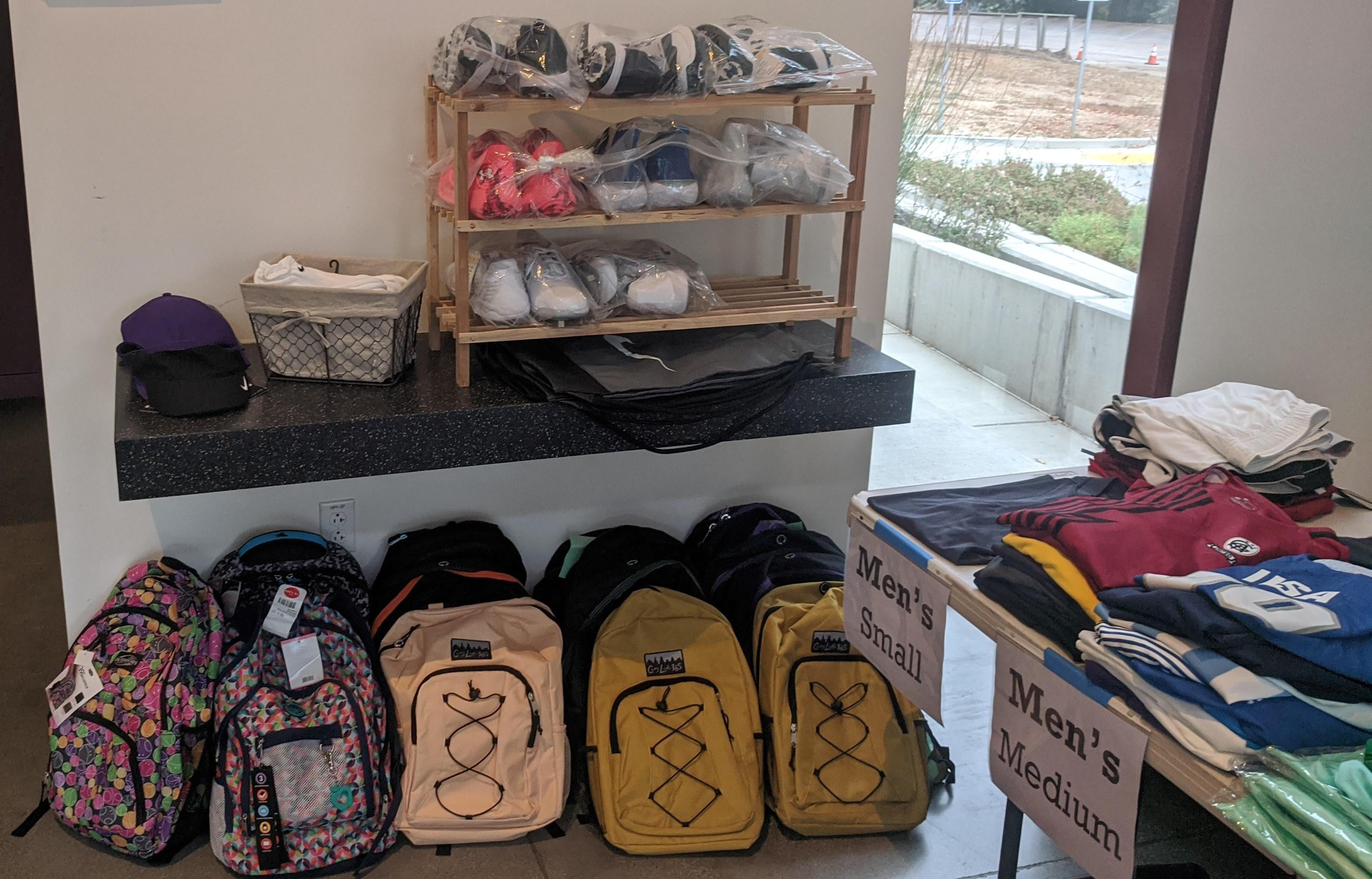 backpacks at boutique