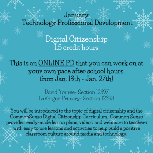 January Online PD