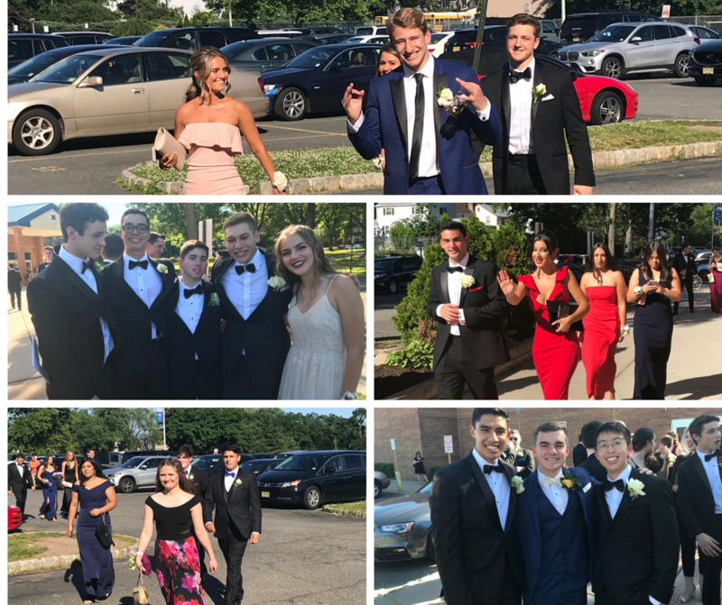 photos of students heading to prom