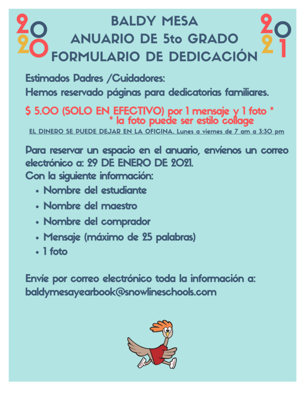 5th grd Yearbook Dedication Form Spanish.png