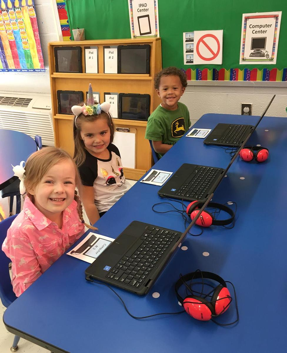 Thanks to a generous donation by Cheatham County resident Dr. Alan Kulkin, Pre-K students in the Cheatham County School District have their own personal touch-screen laptop.