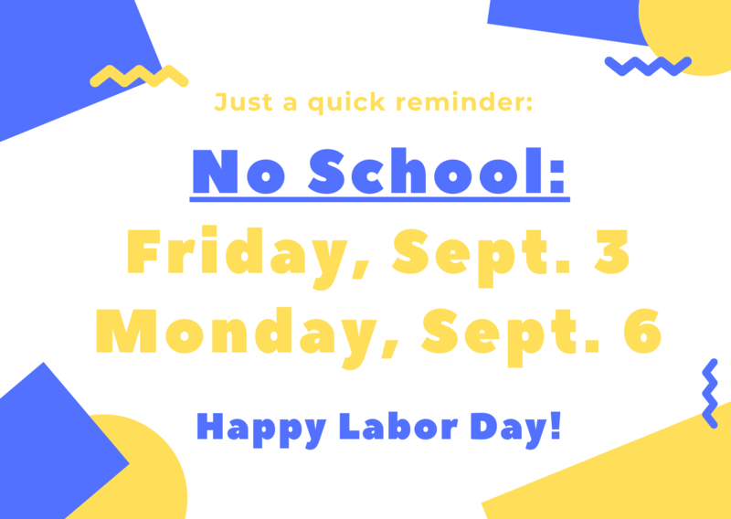 No School - Labor Day Break