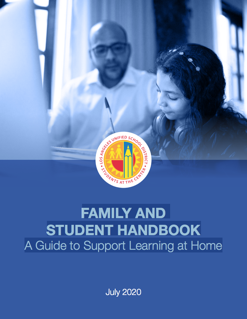 FAMILY AND STUDENT HANDBOOK A Guide to Support Learning at Home