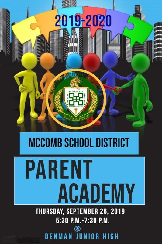 McComb School District Parent Academy News 2019!