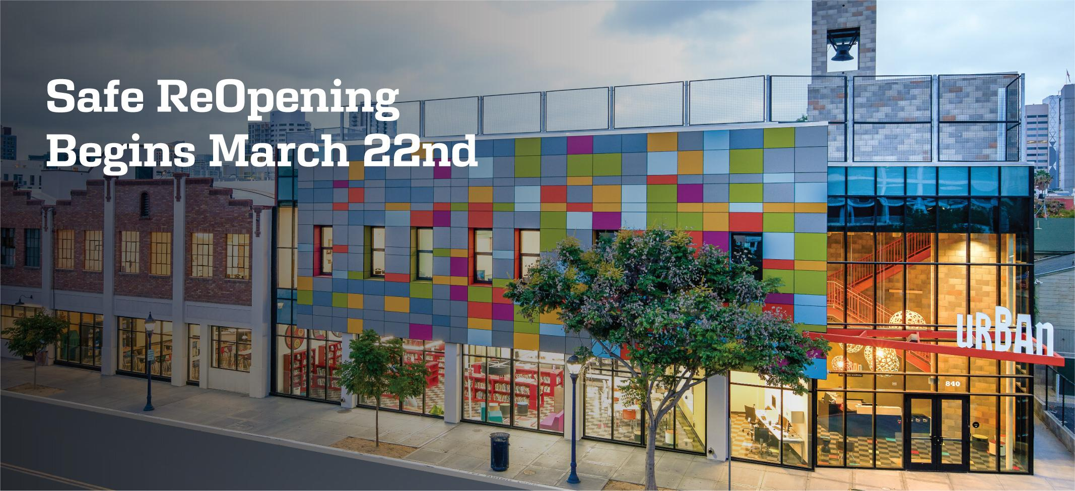 Safe ReOpening Begins March 22nd at Urban Discovery Schools