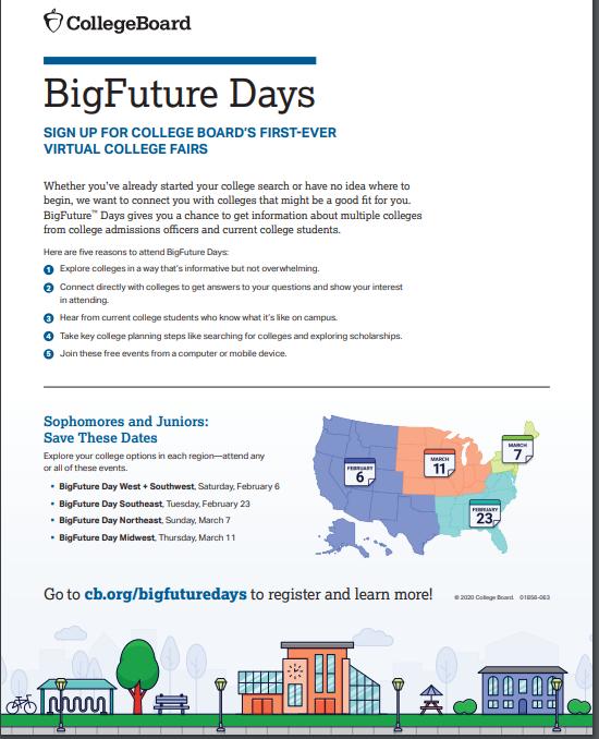 BigFuture Days College Board Flyer