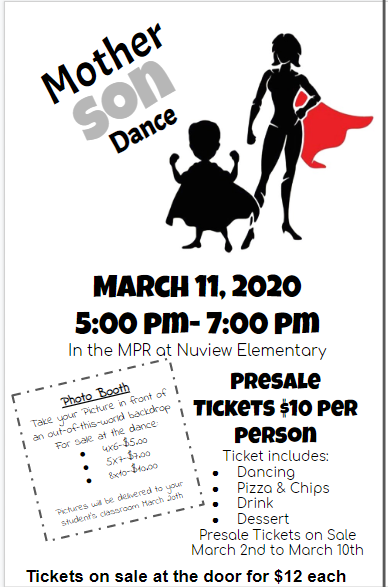 Mother Son Dance flyer