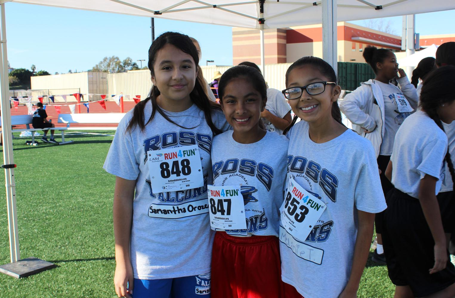 students at fun run