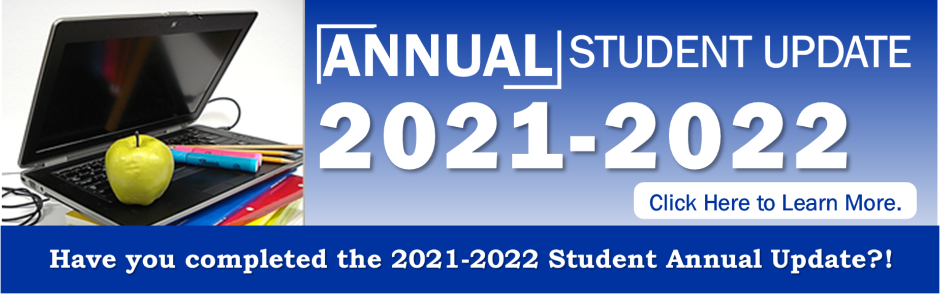 Annual Update 2020-2021 Banner Image