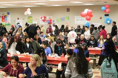 Hundreds showed up to our Family Literacy Night to enjoy games, food and social activities.