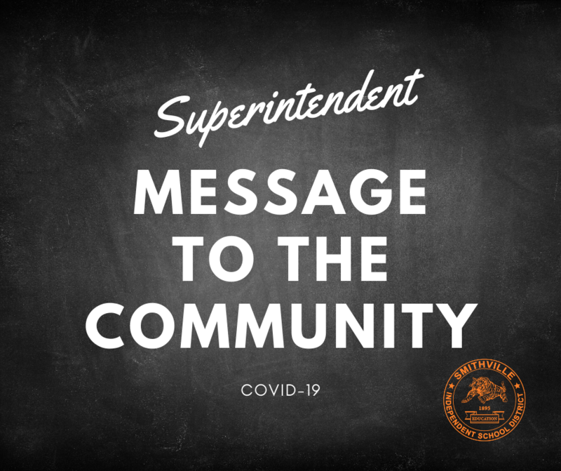 Message to Community - COVID-19 Learning