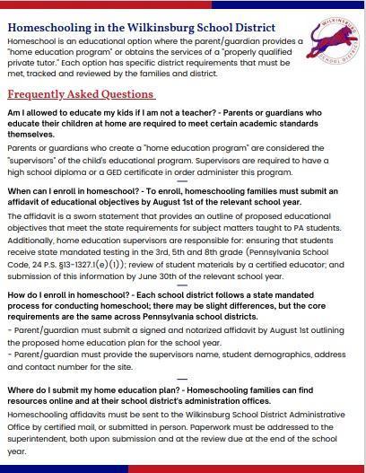 FAQ's about Homeschool