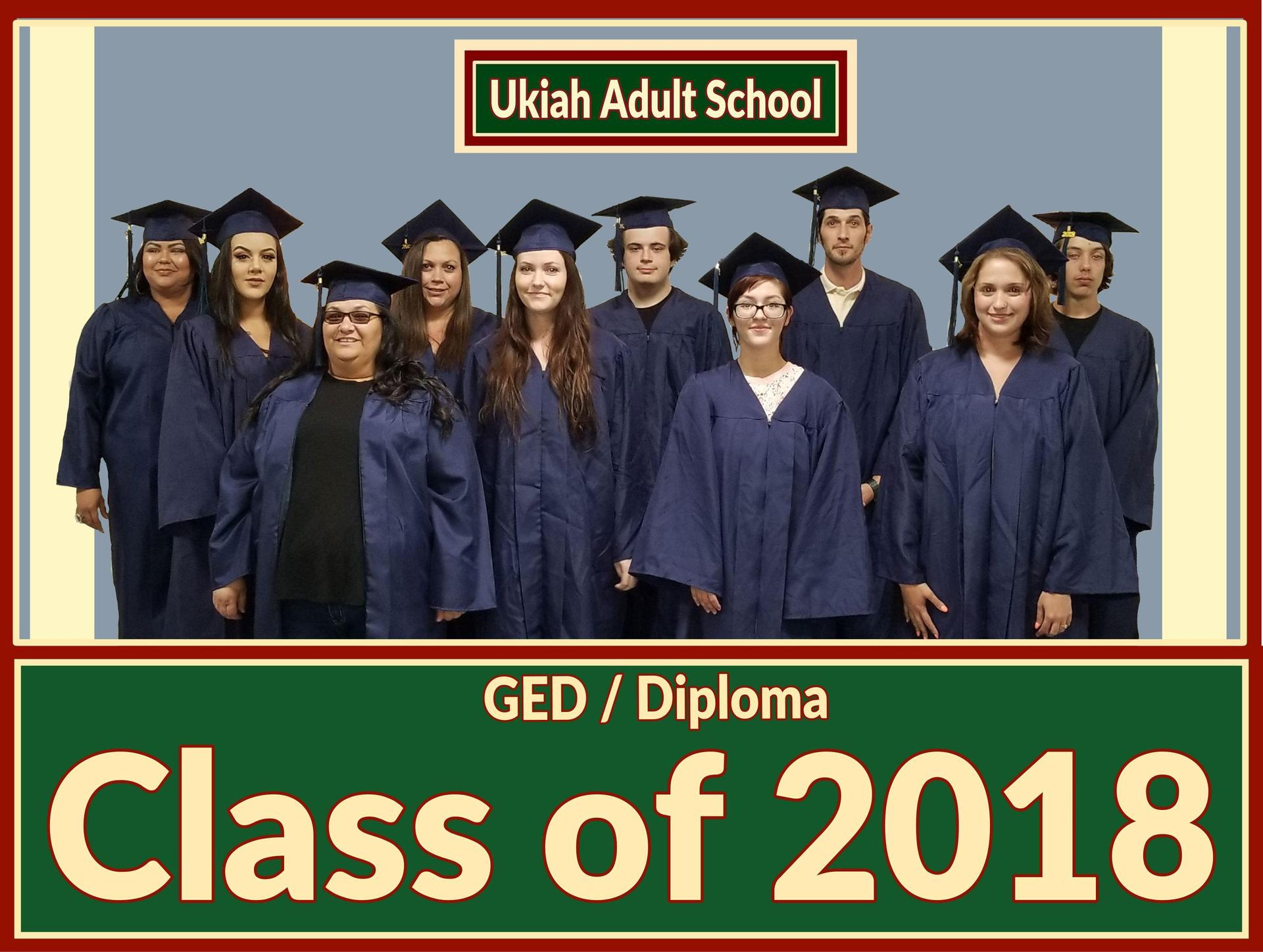 Image of the graduating class od 2018.