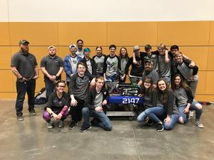 Robotics Team at District Tourney
