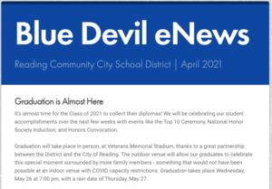Front of the Blue Devil eNews - follow link for content
