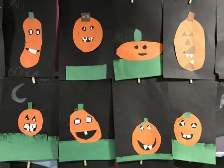 Kindergarten Pumplin Art