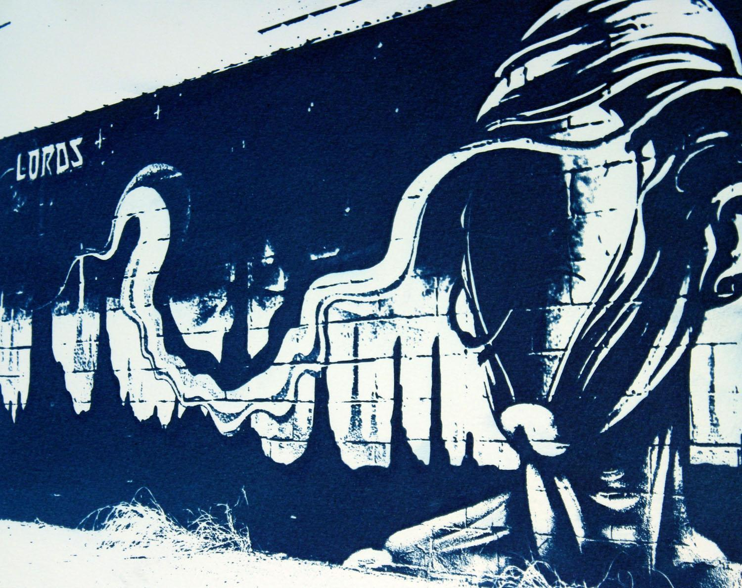 abstract photo of wall painting
