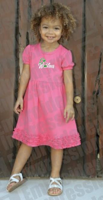 Pink Go Wolves Dress