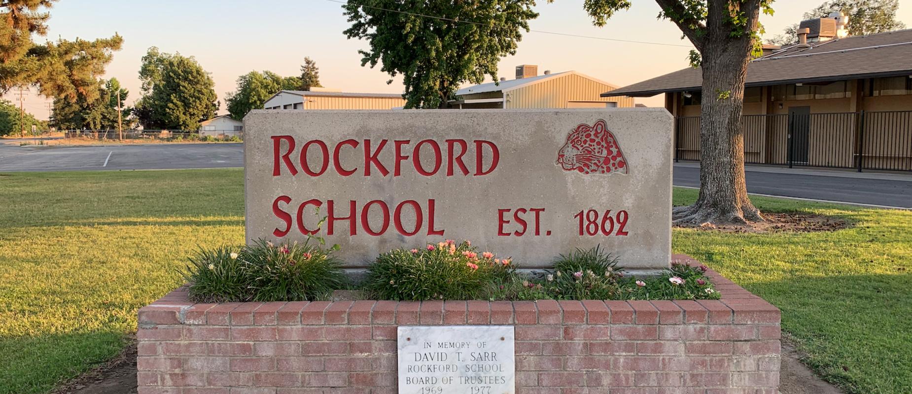 Rockford School Sign