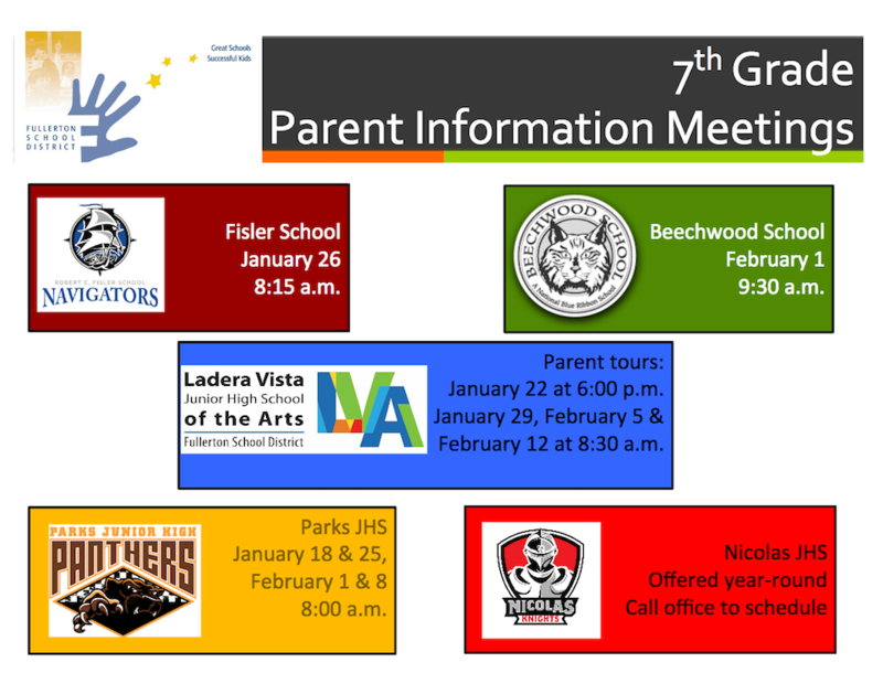 7th Grade Informational Meetings Featured Photo