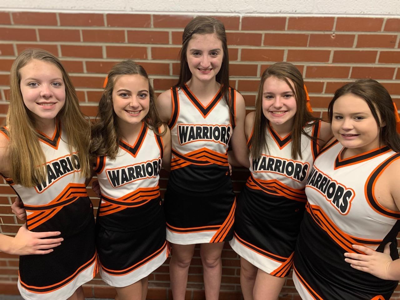 2019-2020 Junior Varsity Cheer Team