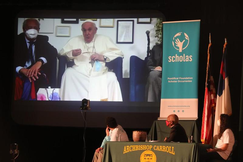 Virtual audience with Pope Francis Featured Photo