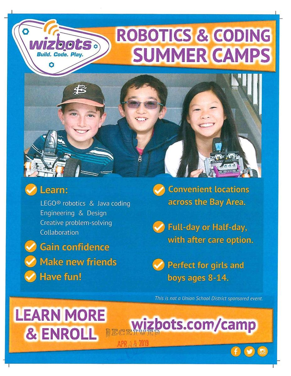 Wizbots Robotics and Coding Camp