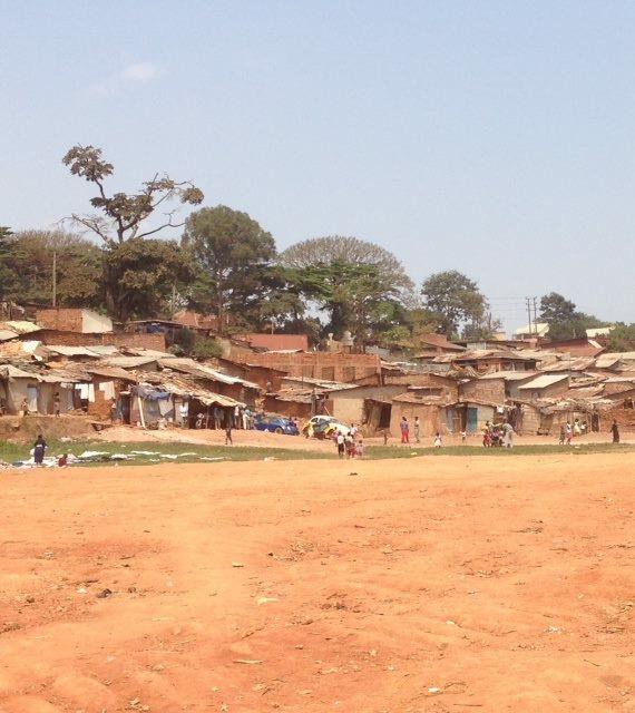 Katonga, the slum where I worked while in Uganda.