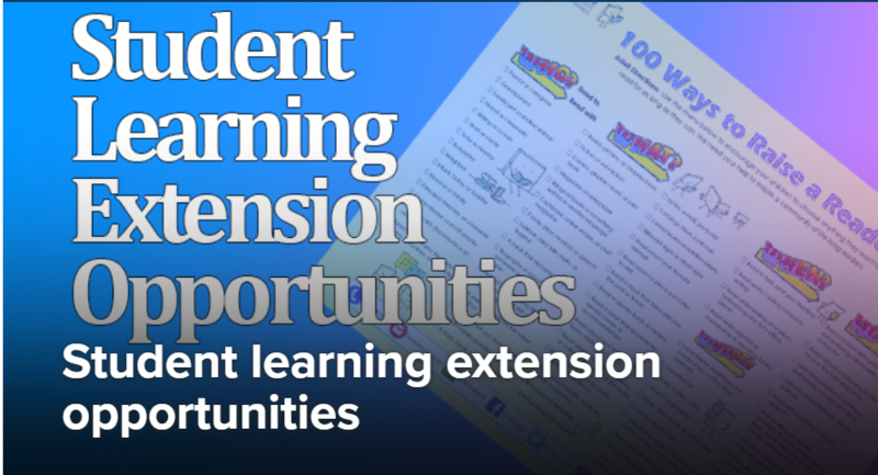 CCSD Provided Student Learning Extension Opportunities Thumbnail Image