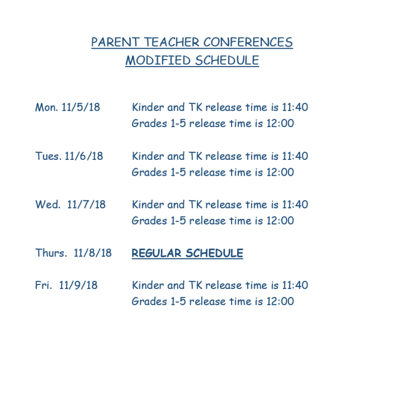 PARENT/TEACHER CONFERENCES-MODIFIED SCHEDULE Featured Photo