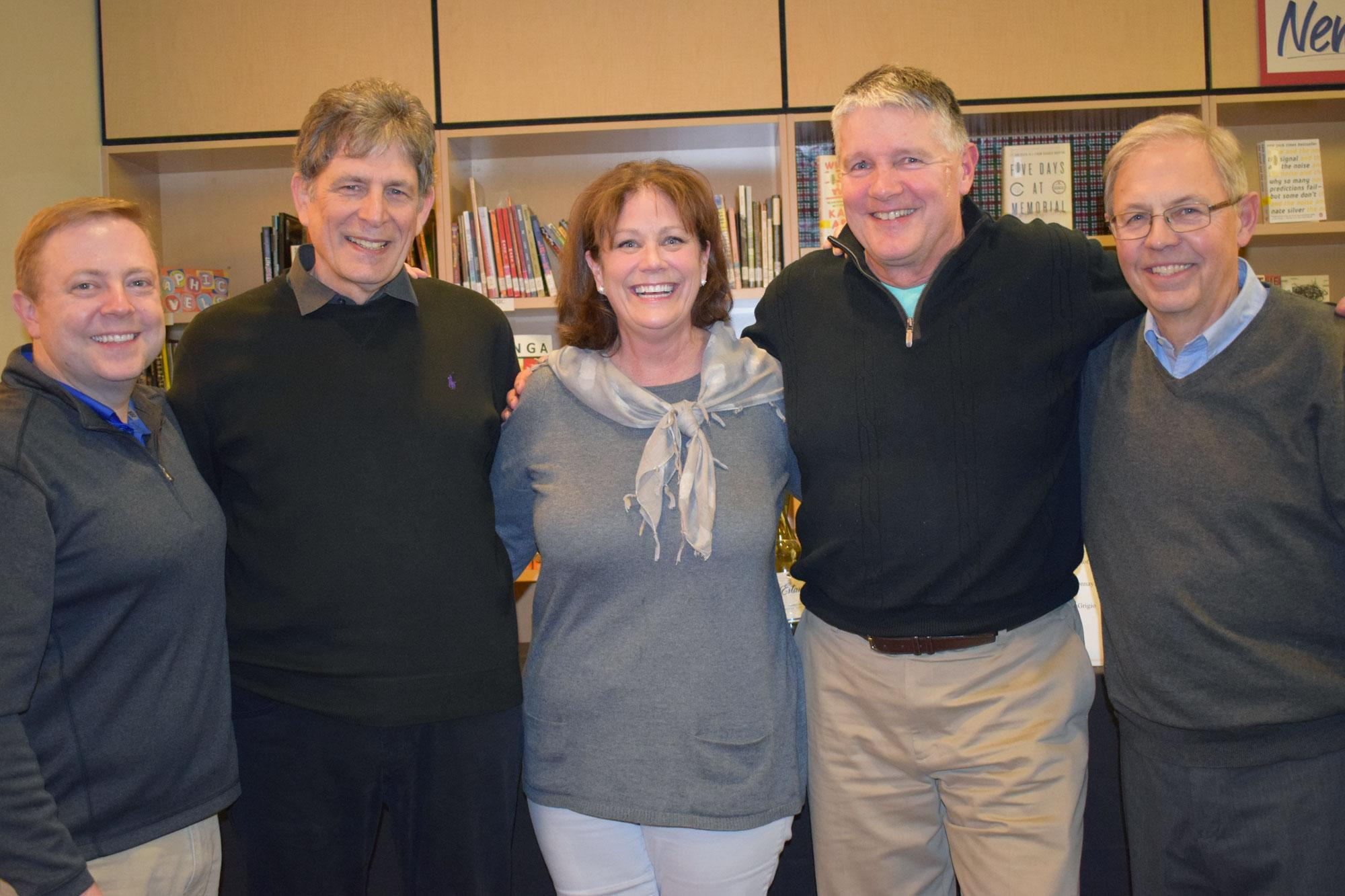 Denise with former principals and presidents