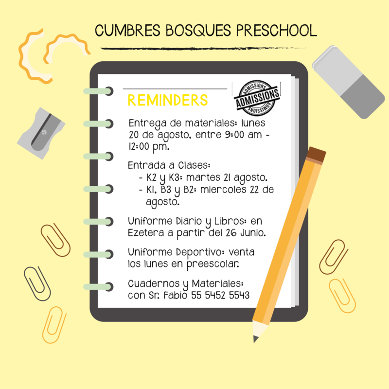 Reminders Preescolar Featured Photo