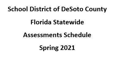 FSA Schedule Spring 2021